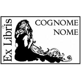 Esempio Ex Libris rettangolare da personalizzare