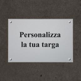 copy of Targa rettangolare distanziali
