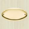 Targa ovale bombata in ottone
