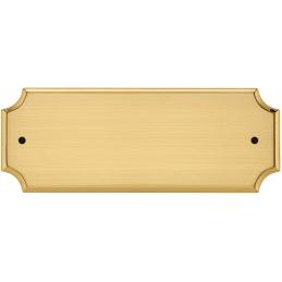 Targa da porta in ottone sagomata con fori