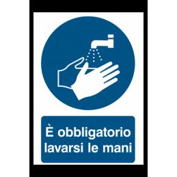 Cartello per COVID-19 OBBLIGO DI LAVARSI LE MANI
