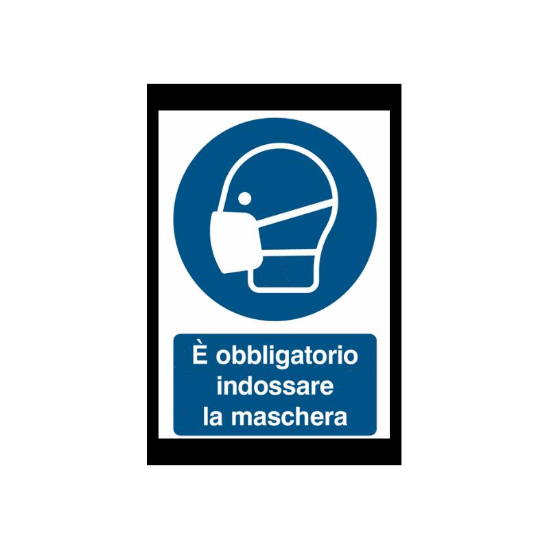 Cartello per COVID-19 OBBLIGO DI INDOSSARE LA MASCHERINA