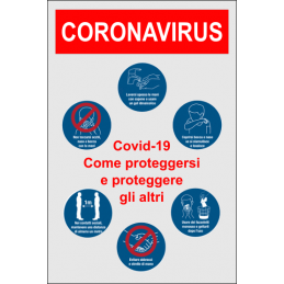 Cartello per COVID-19 MISURE PREVENTIVE CONTRO IL CORONAVIRUS
