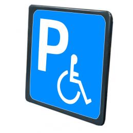 Tabella Parcheggio handicappati realizzata in lamiera di ferro 10/10 scatolata