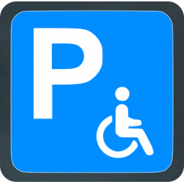 Tabella Parcheggio handicappati realizzata in lamiera di ferro 10/10 scatolata con attacchi posteriori