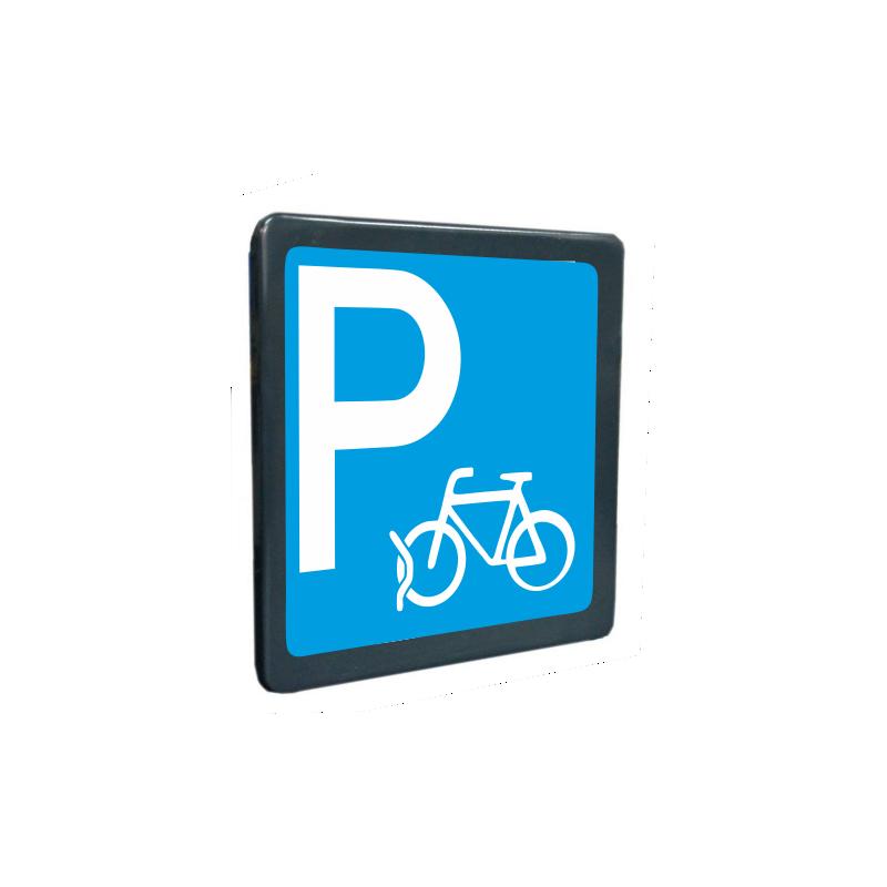 Tabella Parcheggio bicicletta realizzata in lamiera di ferro 10/10 scatolata con attacchi posteriori