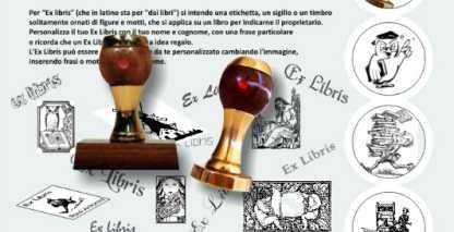 Timbri Ex Libris personalizzati in ottone e legno